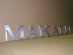 lettres en aluminium brossé