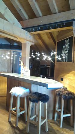 luminaires + plateau de bar