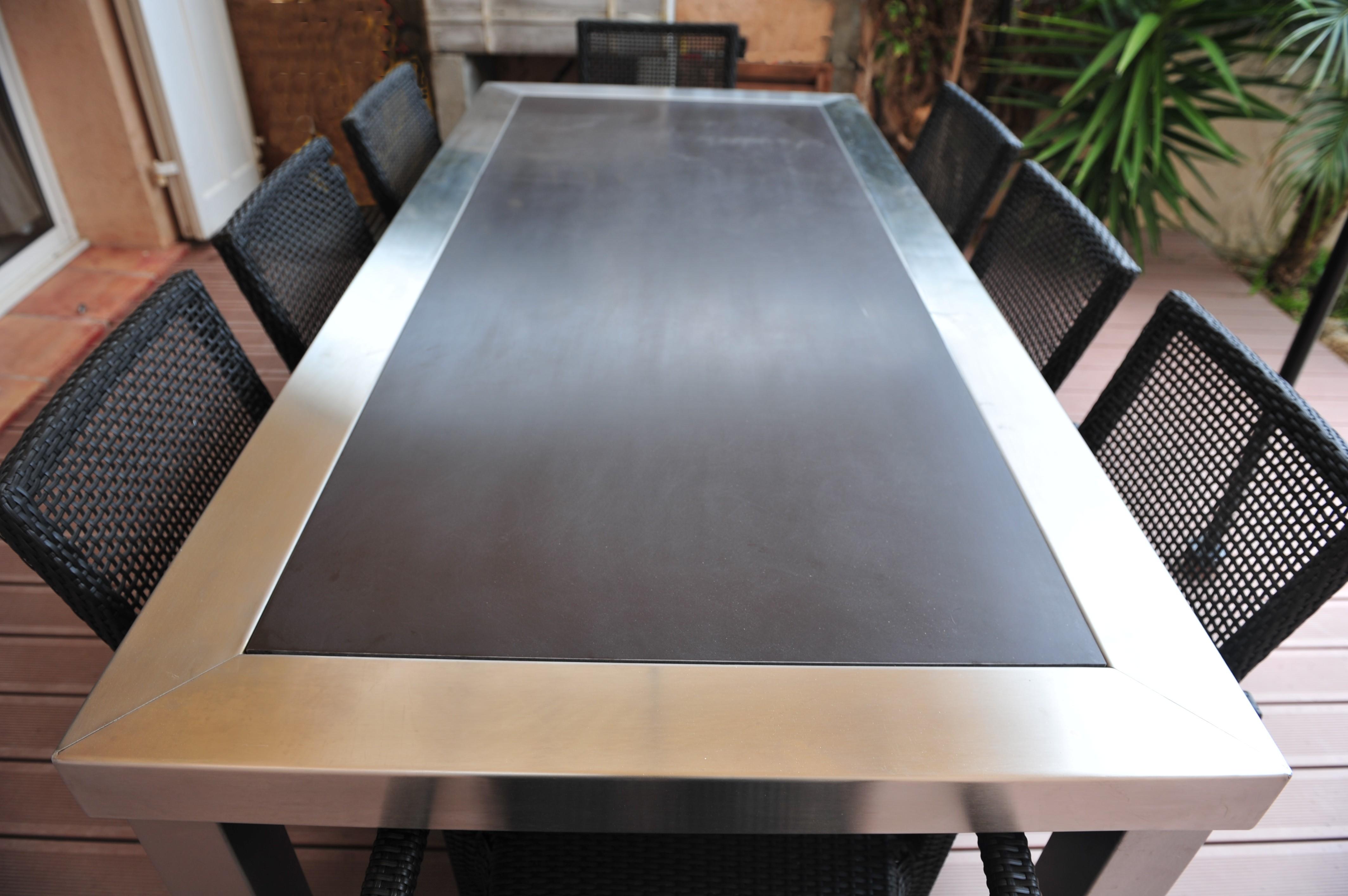 table inox + composite