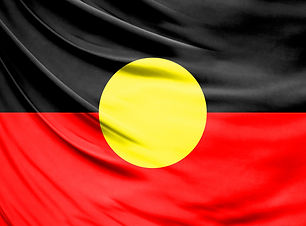 Realistic flag of Australian Aboriginal