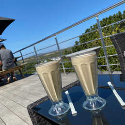 Enjoy refreshing smoothies or milkshakes on a hot summers day with breathtaking views!