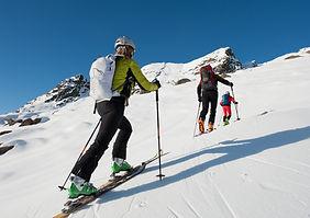 exploring the top with ski - ski touring
