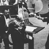 Shlomo as young boy performing with orchestra