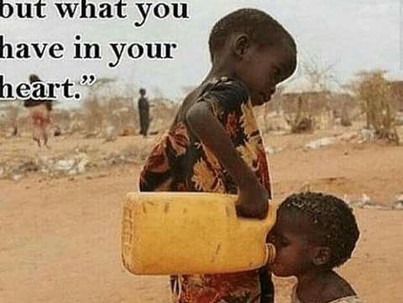 """""""Giving from the Heart, Is More Valuable than Silver or Gold"""""""