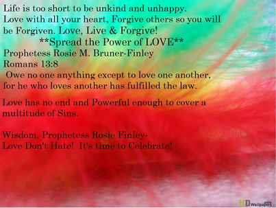 Spread the Power of Love and Defeat the spirit of Hatred!