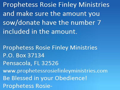"""""""Donate In this Ministry, with the Number 7"""""""