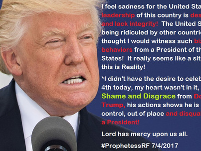 Donald Trump, a Disgrace and Shame