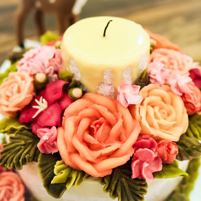 Floral Candle Cake