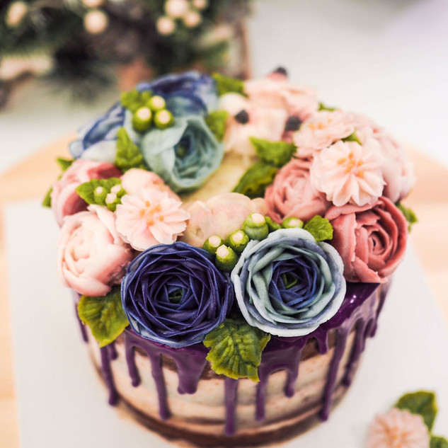 Floral Drip Cake