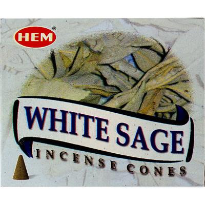 Encens HEM White sage cône
