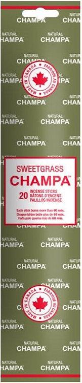 Encens Natural Champa Sweetgrass