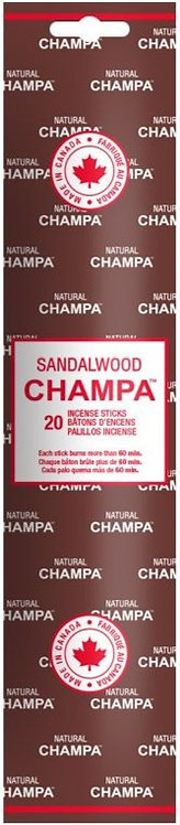 Encens Natural Champa Sandalwood