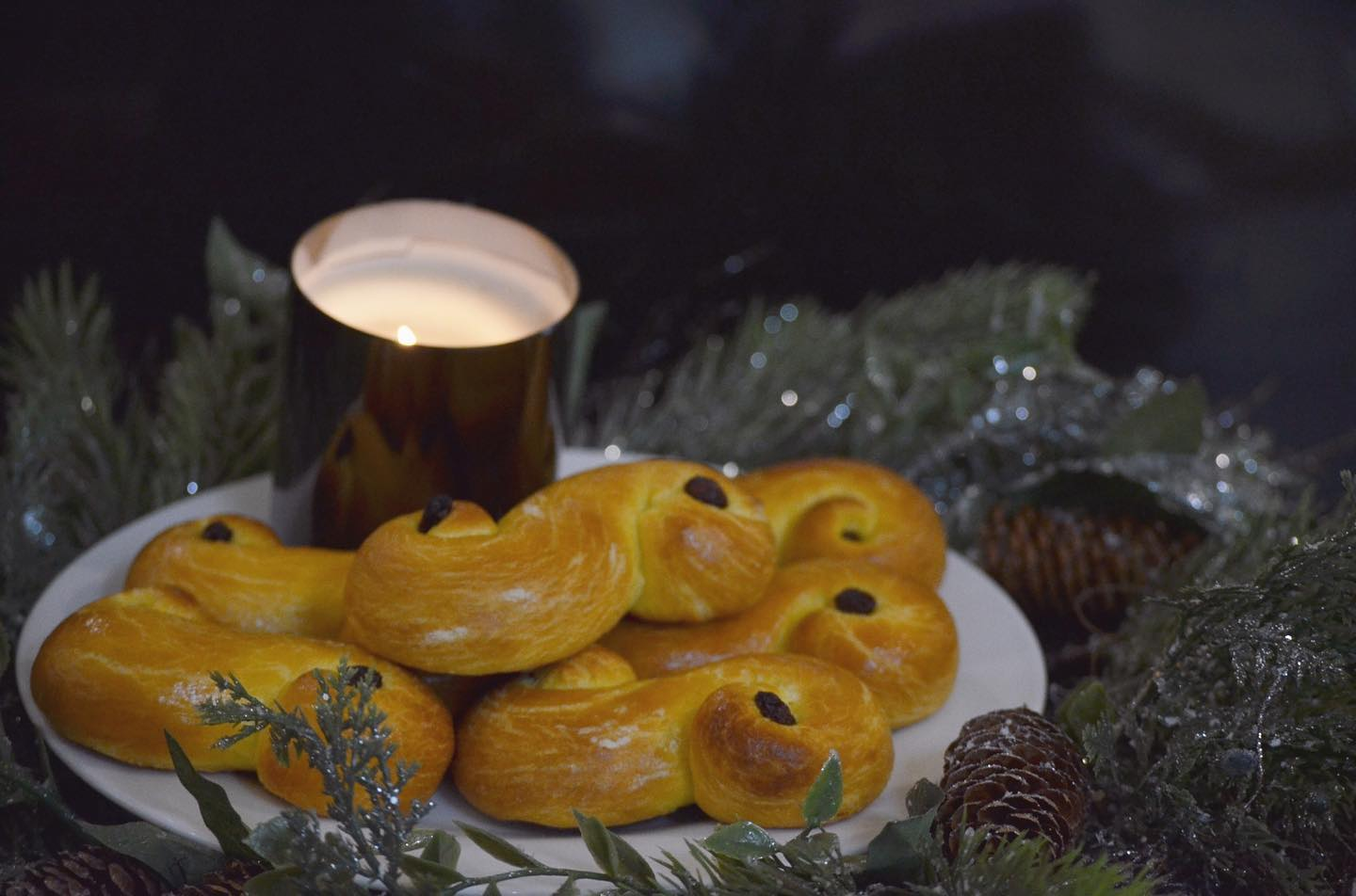 Lucia and candle
