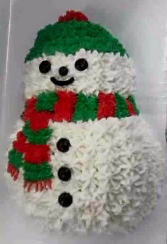 Snowman 3-D Cake