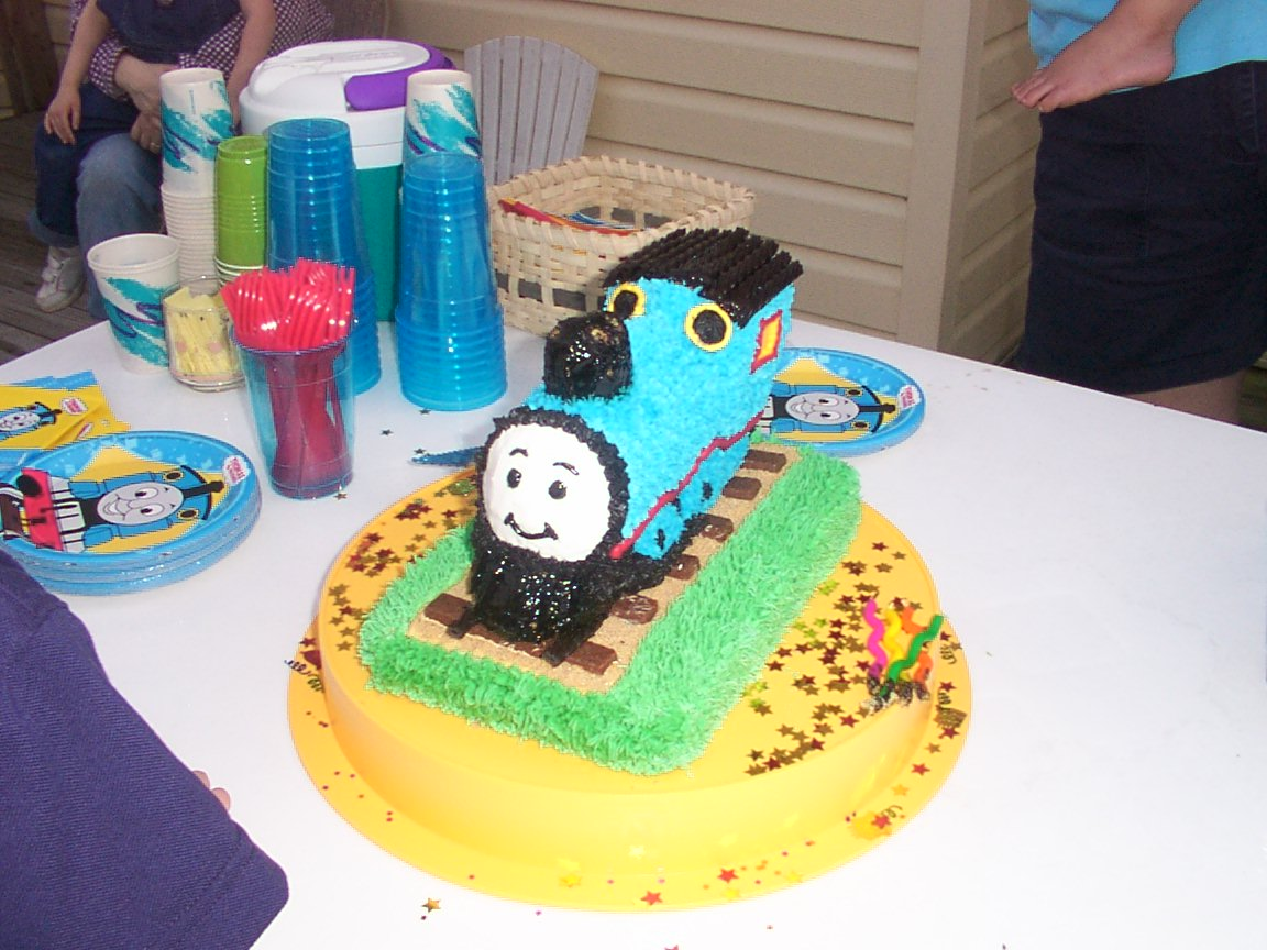 Thomas the Train 3-D Cake