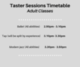 (Adult) Taster Sessions Timetable.png