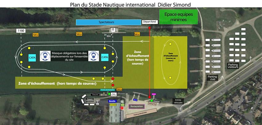 Plan Stade Nautique International Didier