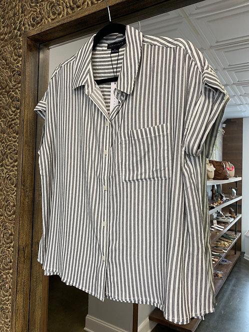 Sanctuary Timeless Stripe Boyfriend Shirt