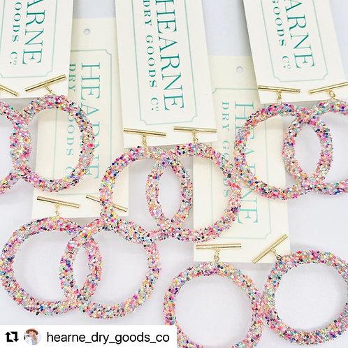 Hearne Dry Goods Rainbow Sparkle Hoops