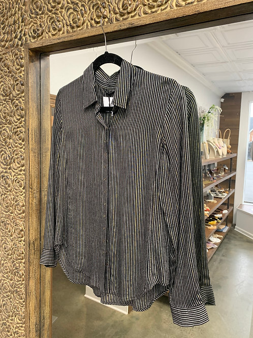 Pistola Elle Metallic Stripe Shirt