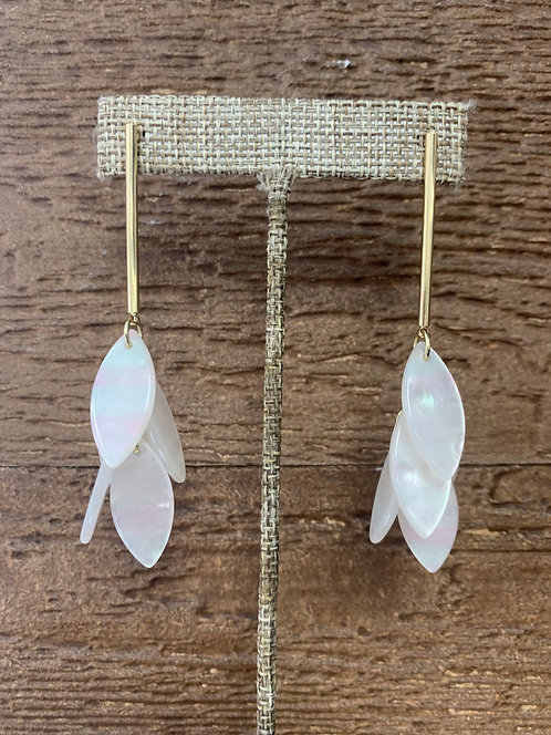 Hearne Dry Goods Mother of Pearl Dangle Earrings