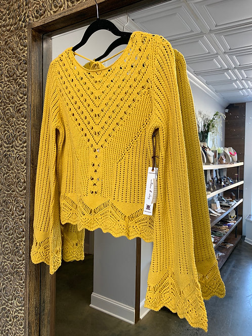 Willow & Clay V Neck Sweater Mustard