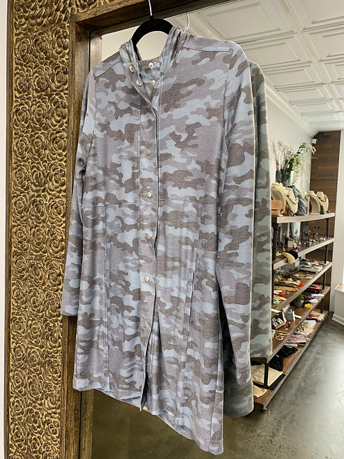 Chaser Camo Snap Front Coat