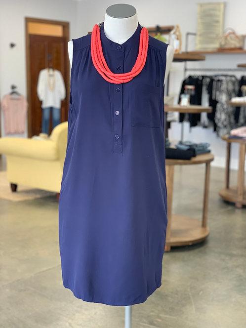 KLd Shirt Dress Navy