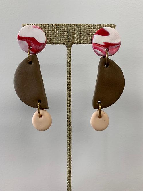 Peppertrain Earrings Jo/Beige