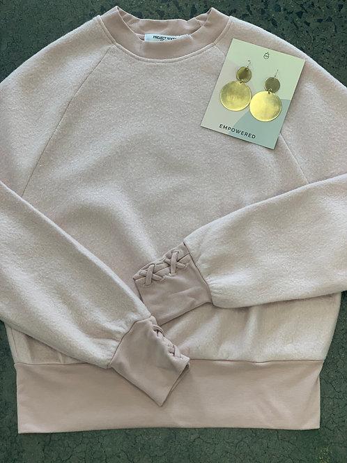 PST Mercy Laceup Sweatshirt