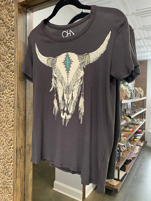 Chaser Cow Skull Shirt