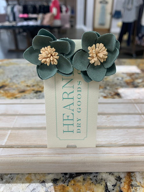 Hearne Dry Goods Co Fabric Flower Green