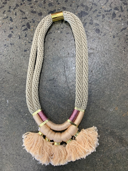 Willa & Delores Necklace Rose/Metallic/Blush