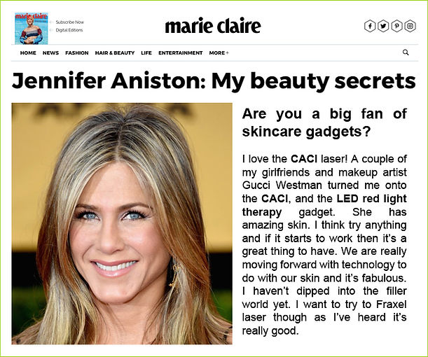 Jennifer Aniston Beauty Secrets - Marie