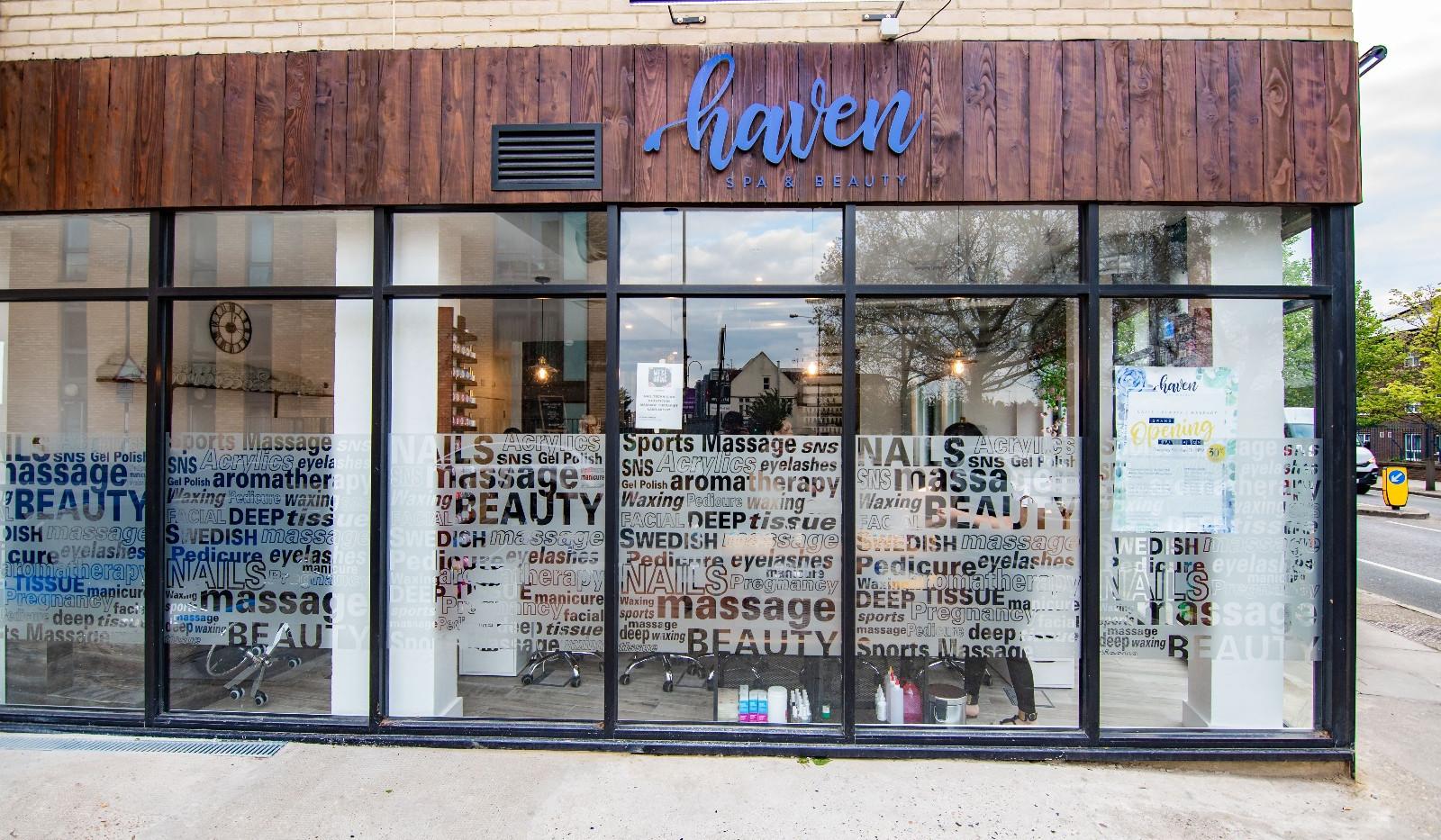 Haven Front of Shop
