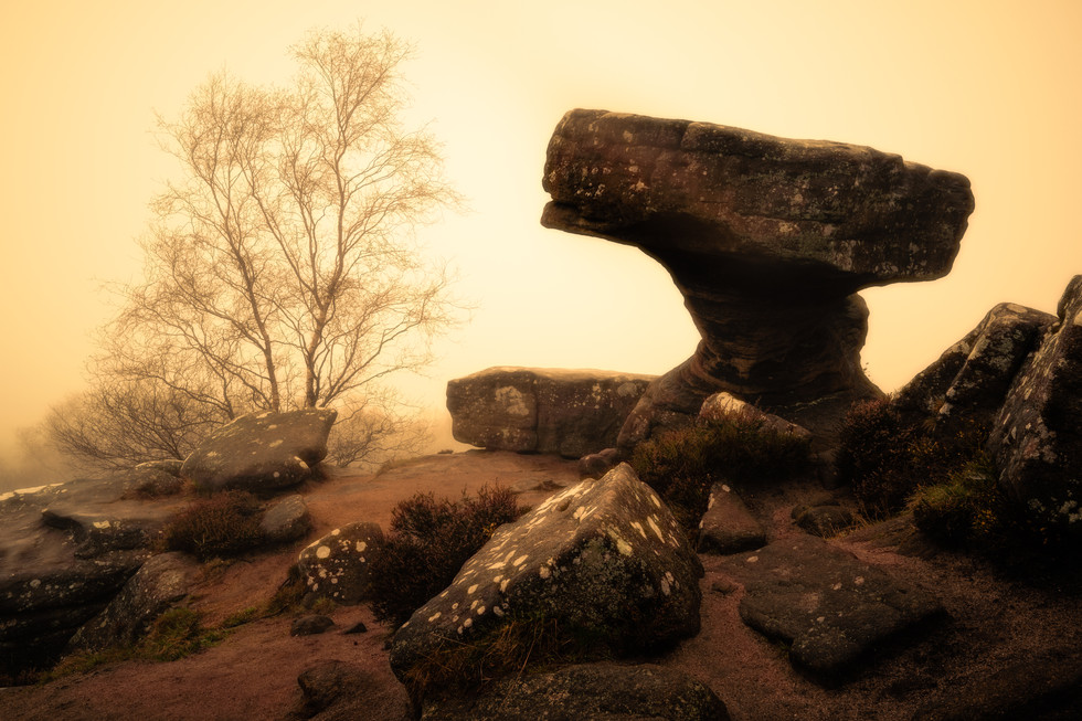 The Druid's Writing Desk at Brimham Rock