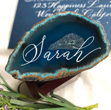 Agate Slice Place Card
