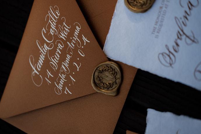 Calligraphy Wedding Envelope