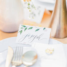 Watercolor painted place cards
