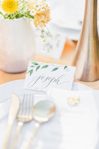 Handpainted Place Card