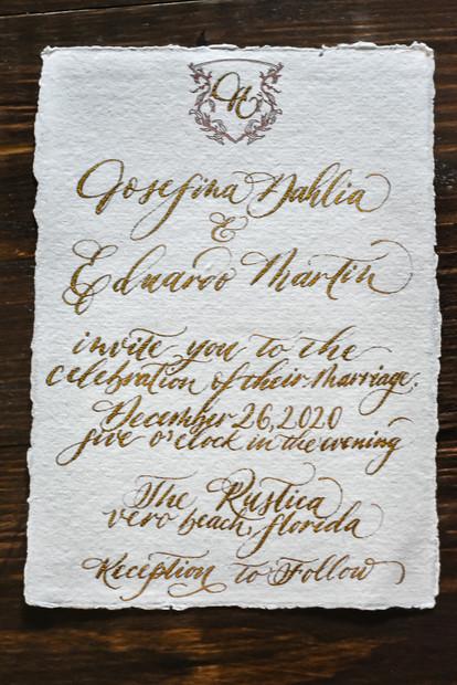 Handmade wedding invitation