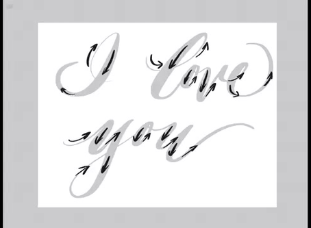 Modern Calligraphy Practice Sheet