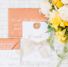 Hand made Paper Invitation Suite