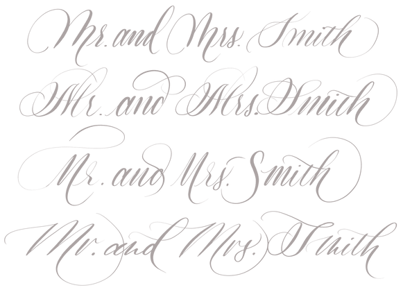 Inkandesce Calligraphy Script Styles