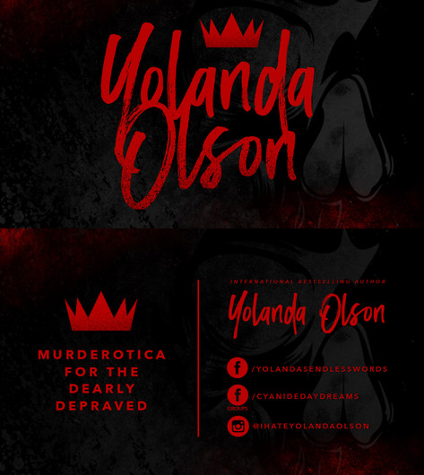 Yolanda Olson Author Business Cards