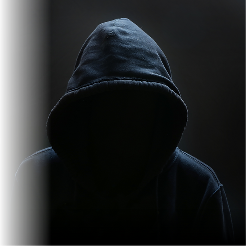 Hooded Man to be protected from using Vaultcard Credit Card Protection