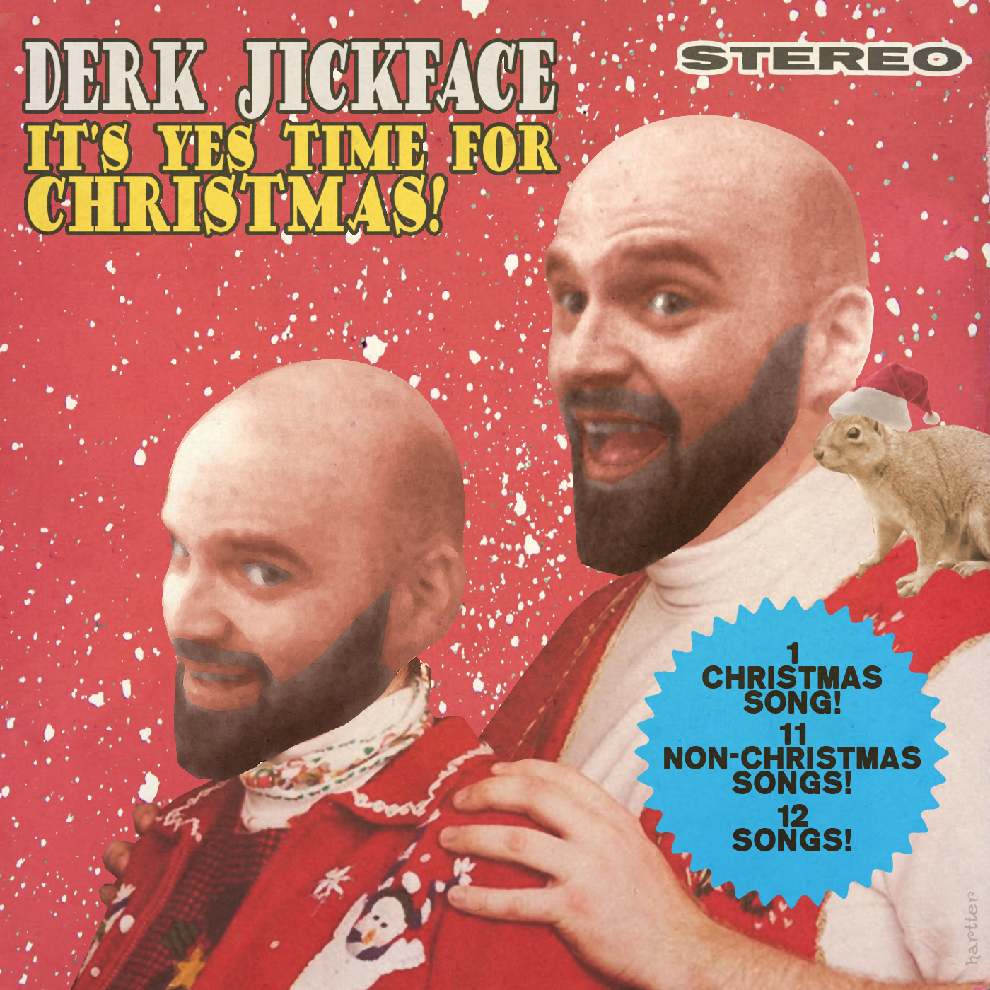 DJ Christmas Record Album Art