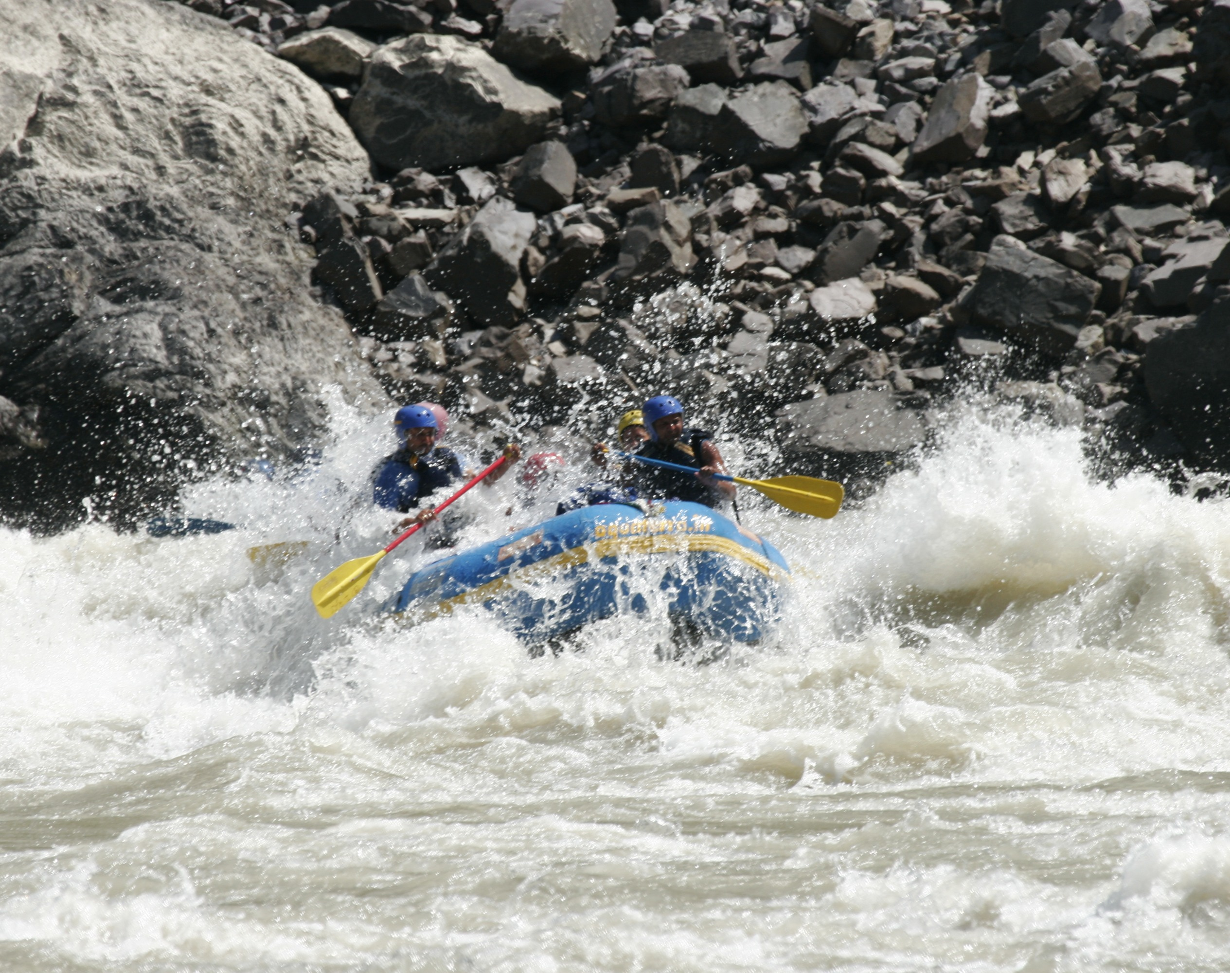 Whitewater rafting in Denali