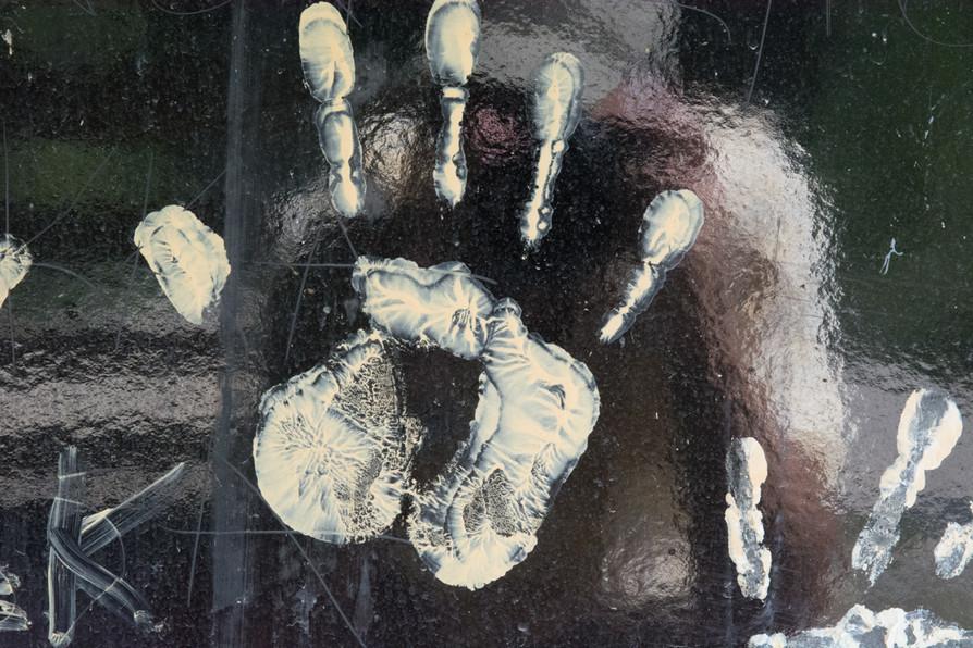 White Hand On Glossy