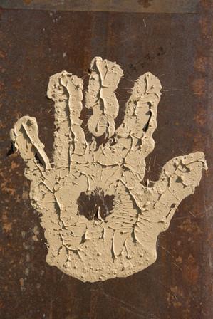 Mud Hand Print